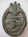 знак за танковый бой в серебре